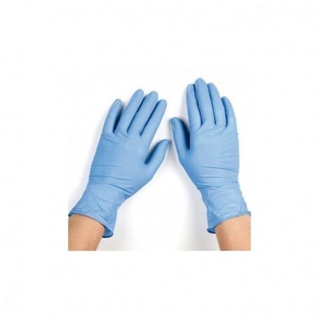 Guantes nitrilo azul - 100u.